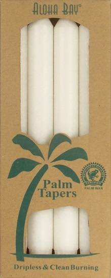 "Aloha Bay - Aloha Bay Candle 9"" Taper (4 ct)- White"