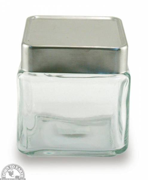 Down To Earth - Anchor Stackable Square Jar 1 Quart