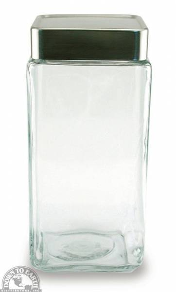 Down To Earth - Anchor Stackable Square Jar 2 Quart