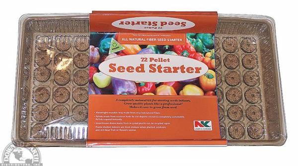 Natural fiber seed starter greenhouse pellets