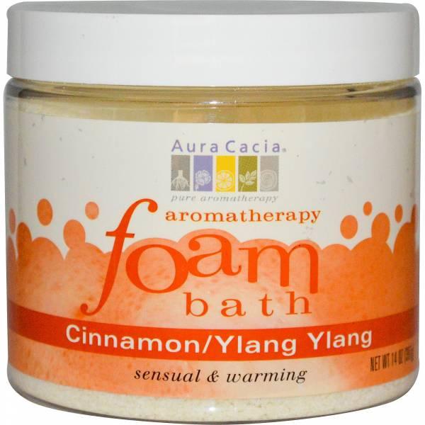 Aura Cacia - Aura Cacia Aromatherapy Foam Bath 14 oz- Cinnamon Ylang