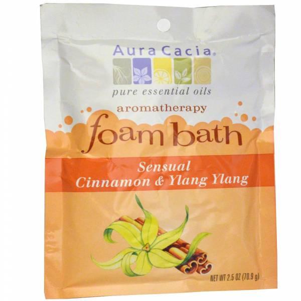 Aura Cacia - Aura Cacia Aromatherapy Foam Bath 2.5 oz- Cinnamon Ylang