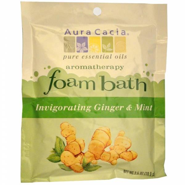 Aura Cacia - Aura Cacia Aromatherapy Foam Bath 2.5 oz- Ginger Mint