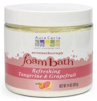 Aura Cacia - Aura Cacia Aromatherapy Foam Bath 14 oz- Tangerine/Grapefruit