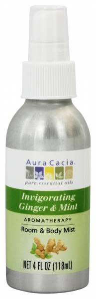 Aura Cacia - Aura Cacia Aromatherapy Mist 4 oz- Ginger/Mint