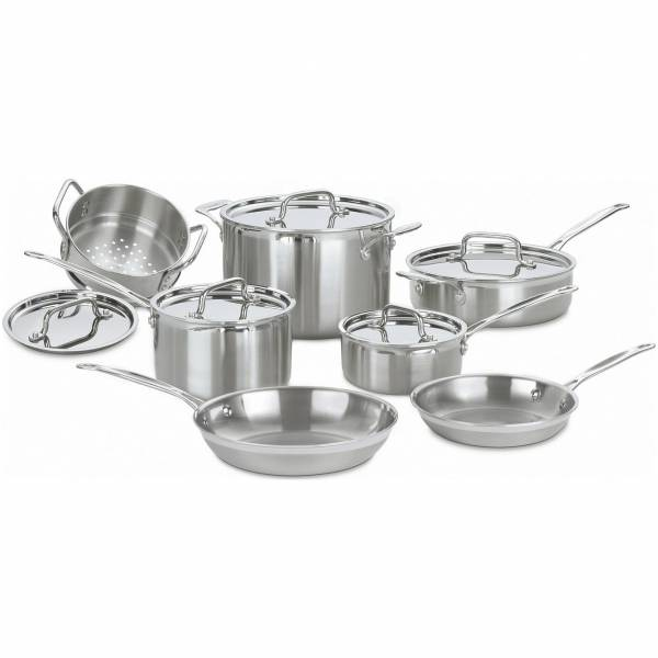 Miracle Exclusives - Miracle Exclusives Stainless Steel Cookware Set 7 pcs