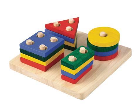 Plan Toys - Plan Toys Geometric Sorting Board