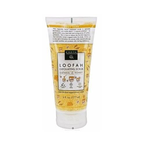 Earth Therapeutics - Earth Therapeutics Loofah Exfoliating Scrub Oatmeal & Honey 6 oz