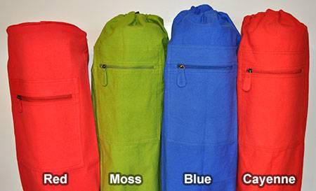 Barefoot Yoga - Barefoot Yoga Duffel Style Cotton Canvas Yoga Mat Bag - Cayenne