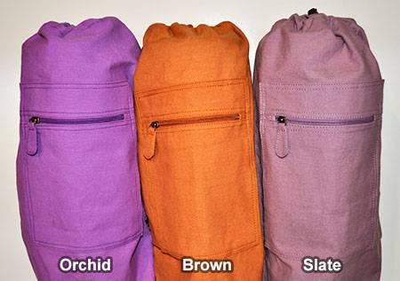 Barefoot Yoga - Barefoot Yoga Duffel Style Cotton Canvas Yoga Mat Bag - Orchid