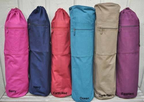 Barefoot Yoga - Barefoot Yoga Duffel Style Cotton Canvas Yoga Mat Bag with OM - Chocolate