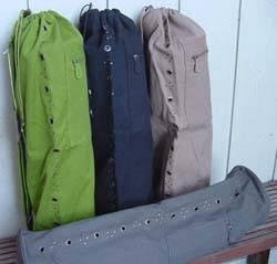 Barefoot Yoga - Barefoot Yoga Duffel Cotton Canvas Yoga Mat Bag with Vents - Black