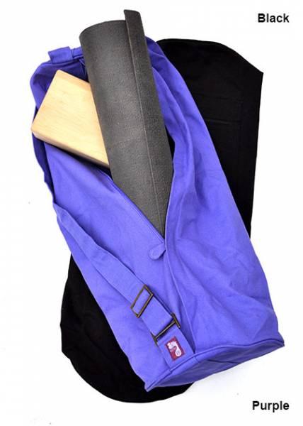 Barefoot Yoga - Barefoot Yoga Cotton Canvas Yoga Mat Bag X-Large - Black