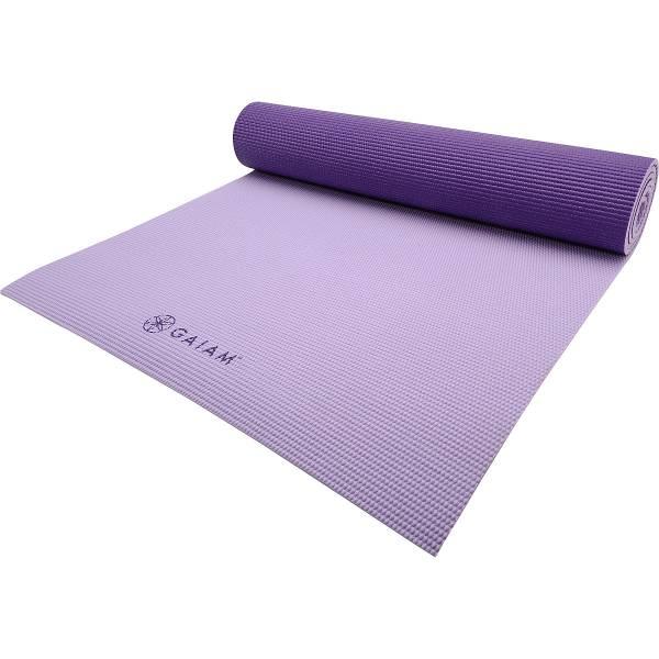 Gaiam - Gaiam Premium 2-Color Yoga Mat 5mm - Plum Jam