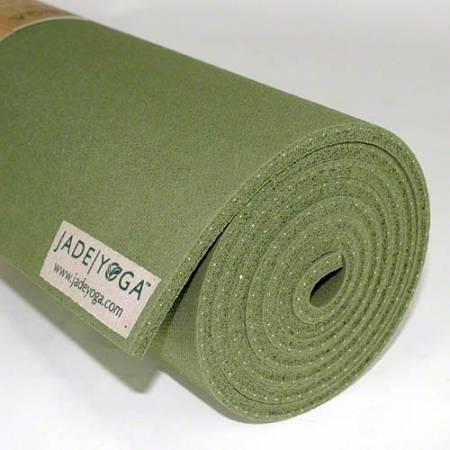 "Jade Yoga - Jade Yoga Harmony Professional Yoga Mat 24"" x 68"" - Olive Green"