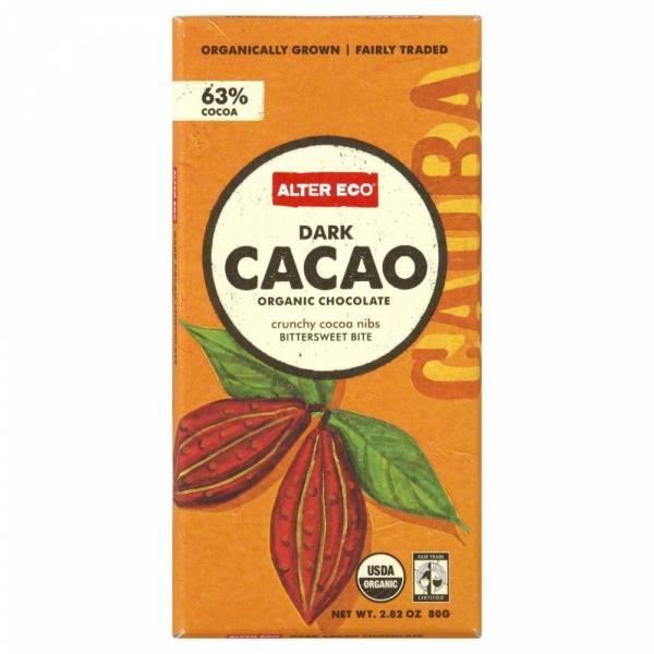 Alter Eco - Alter Eco Alter Eco Organic Dark Cacao 63% 2.82 oz (4 Pack)