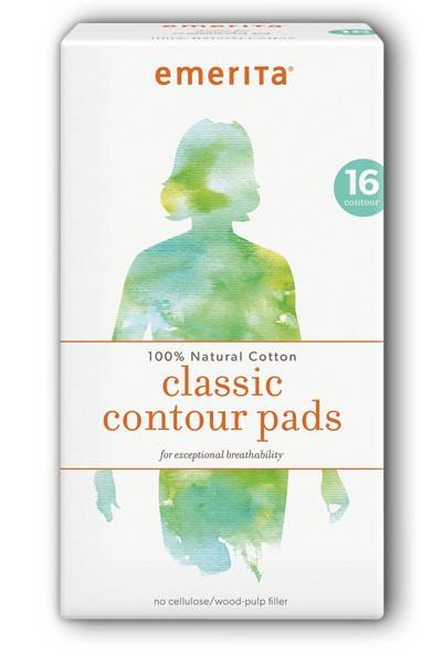 Emerita - Emerita Natural Cotton Classic Contour Pads 16 ct