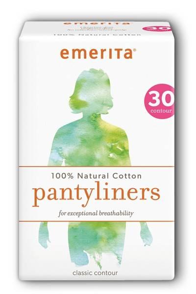 Emerita - Emerita Natural Cotton Classic Contour Pantiliners 30 ct