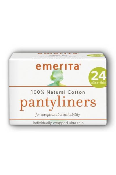 Emerita - Emerita Natural Cotton Ultra Thin Pantiliners, Individually Wrapped 24 ct