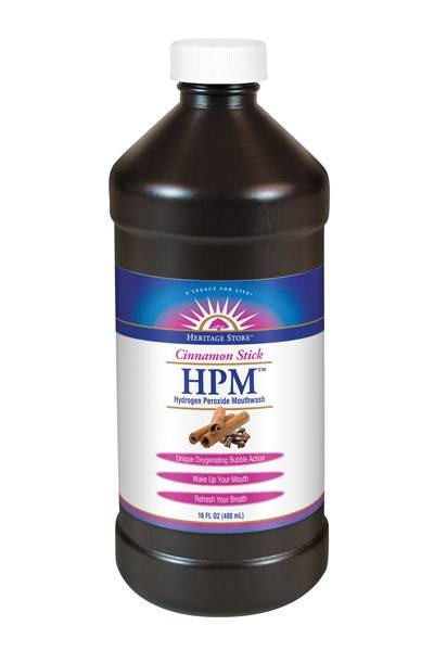Heritage Products - Heritage Products Hydrogen Peroxide Mouthwash Cinnamon Stick 16 oz