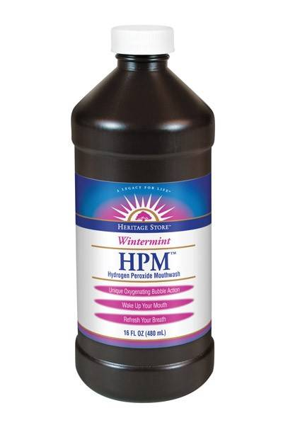 Heritage Products - Heritage Products Hydrogen Peroxide Mouthwash Wintermint 16 oz