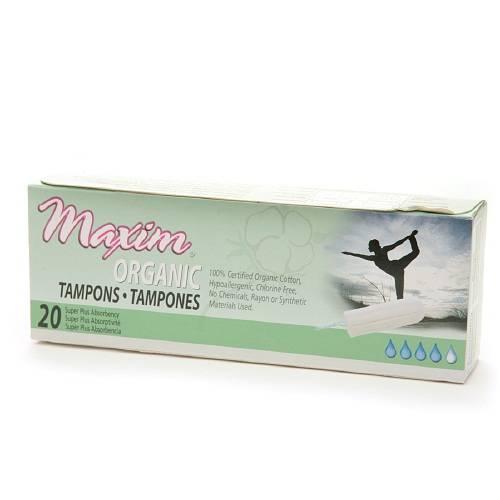 Maxim - Maxim Organic Tampon Super Plus Non Applicator 20 ct