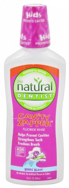 Natural Dentist - Natural Dentist Cavity Zapper Fluoride Rinse Berry Blast 16.9 oz