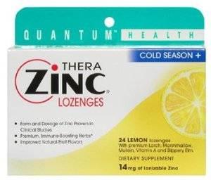 Quantum - Quantum Cold Season+ TheraZinc Lozenges Lemon 24 loz