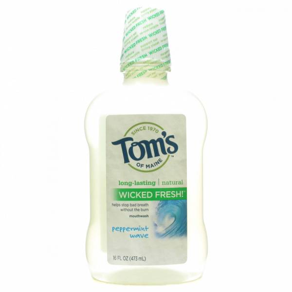Tom'S Of Maine - Tom's Of Maine Long Lasting Wicked Fresh Peppermint Wave Mouthwash 16 oz