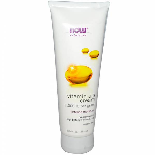 Now Foods - Now Foods Vitamin D-3 Cream 4 fl oz