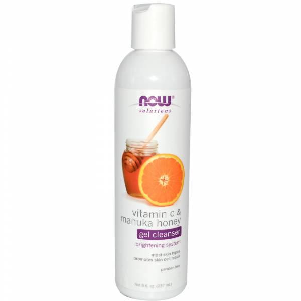 Now Foods - Now Foods Gel Cleanser 8 oz - Vitamin C & Manuka Honey