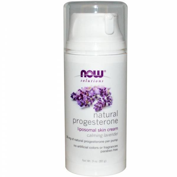 Now Foods - Now Foods Natural Progesterone Liposomal Skin Cream 3 oz - Lavender