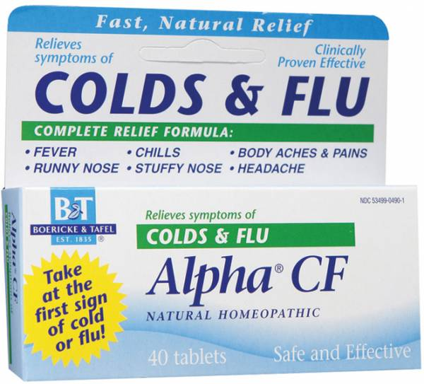 Boericke & Tafel - Boericke & Tafel Alpha CF Colds & Flu 120 tab