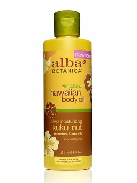 Alba Botanica - Alba Botanica Hawaiian Organic Massage Oil8.5 oz-Kukui Nut (2 Pack)