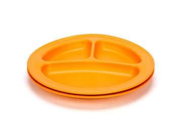 Green Eats - Green Eats Divided Plates - Orange (2 Pack)