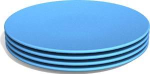 Green Eats - Green Eats Snack Plate - Blue (4 Pack)