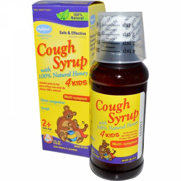 Hylands - Hylands Cough Syrup with Honey 4 Kids 4 oz