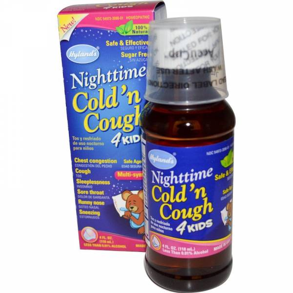 Hylands - Hylands Night Time Cold 'N Cough 4 Kids 4 oz