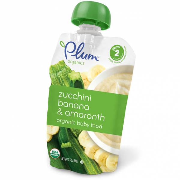 Plum Organics - Plum Organics Second Blends 3.5 oz - Zucchini Banana & Amaranth (6 Pack)