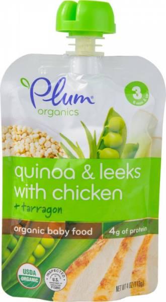 Plum Organics - Plum Organics Stage 3 Meals 4 oz - Organic Quinoa & Leeks With Chicken + Tarragon (6 Pack)
