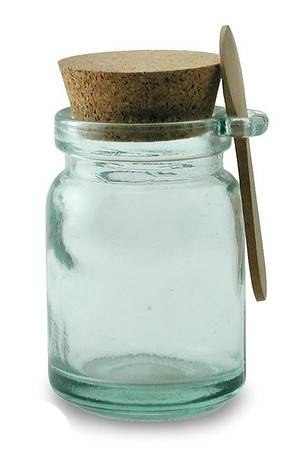 BIH Collection - BIH Collection Recycled Glass Round Jar with Spoon 250 cc