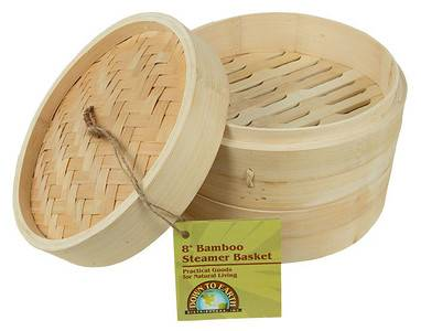 "BIH Collection - BIH Collection Bamboo Steamer Basket 8"""