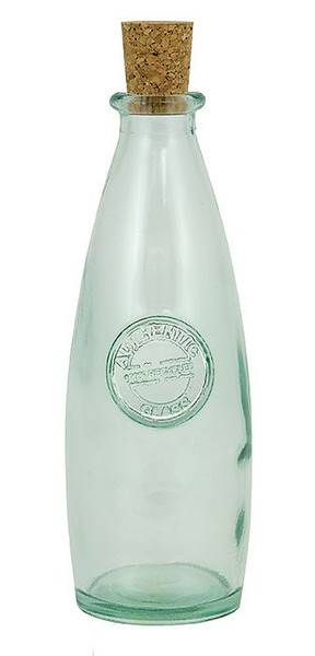 BIH Collection - BIH Collection Recycled Glass Authentic Bottle with Cork 10 oz