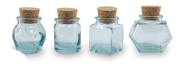 BIH Collection - BIH Collection Recycled Glass Assorted Mini Jars - Clear