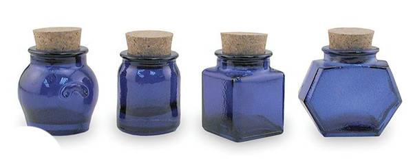 BIH Collection - BIH Collection Recycled Glass Assorted Mini Jars - Cobalt