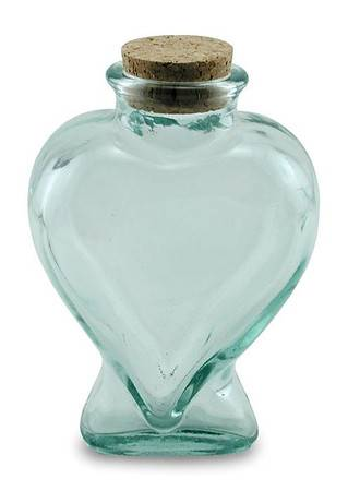 BIH Collection - BIH Collection Recycled Glass Heart Bottle 225 cc
