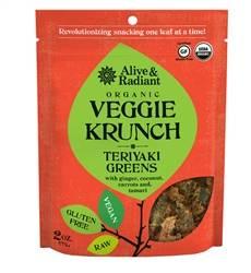 Alive & Radiant Foods - Alive & Radiant Foods Veggie Krunch Teriyaki Greens 2 oz (6 Pack)