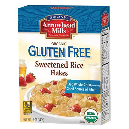 Arrowhead Mills - Arrowhead Mills Organic Gluten Free Sweetened Rice Flakes 12 oz