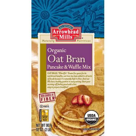 Arrowhead Mills - Arrowhead Mills Organic Oat Bran Pancake and Waffle Mix 26 oz