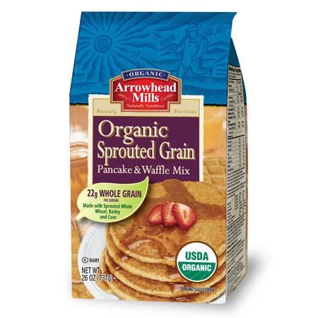 Arrowhead Mills - Arrowhead Mills Organic Sprouted Grain Pancake & Waffle Mix 26 oz